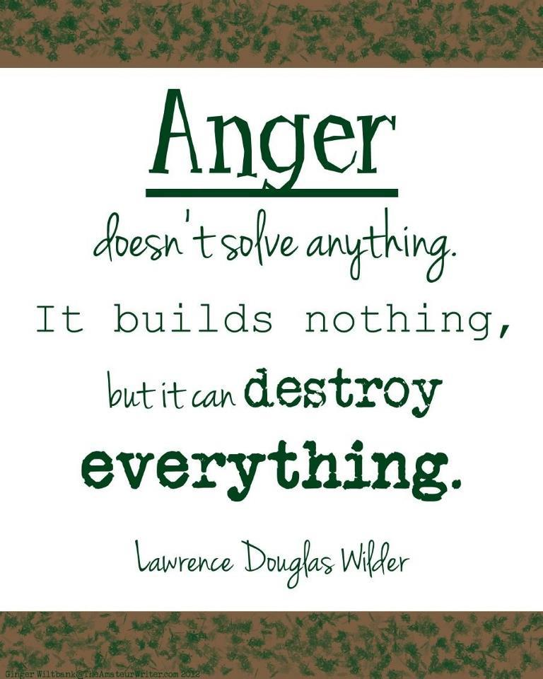 Anger. What Is It Good For? Absolutely Nothing